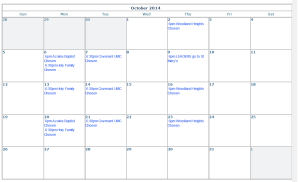 CLICK ON IMAGE TO SEE FULL SIZE CALENDAR - OCTOBER CLUB
